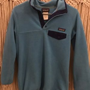 Light Blue Patagonia Women's Fleece - XS